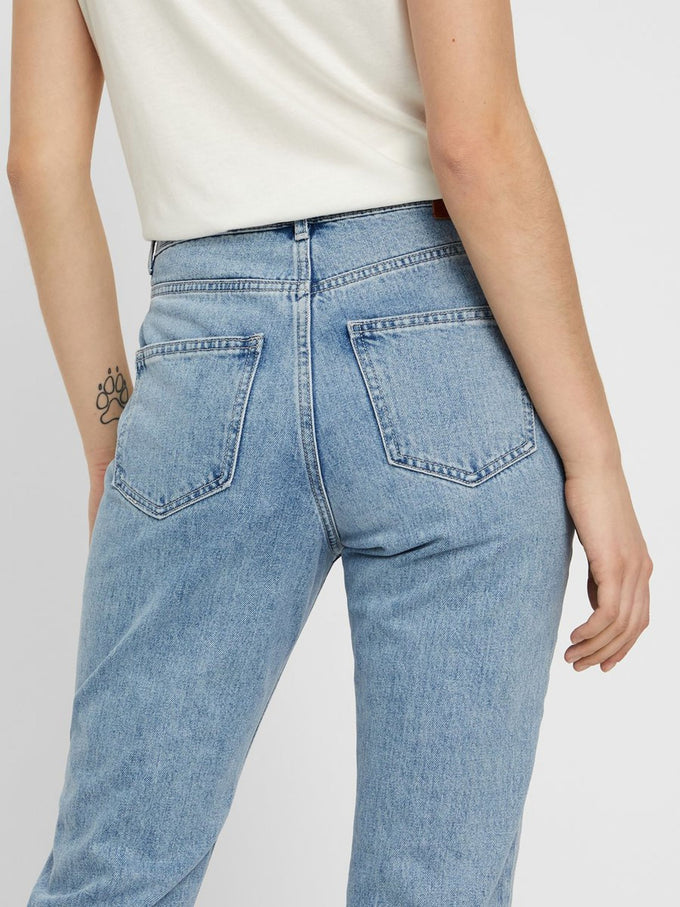 Joana High Waist Mom Fit Jeans LIGHT BLUE DENIM