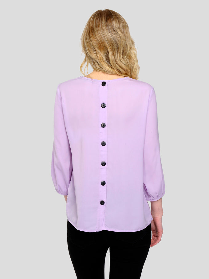 3/4 SLEEVE BLOUSE WITH DECORATIVE BUTTONS LAVENDULA