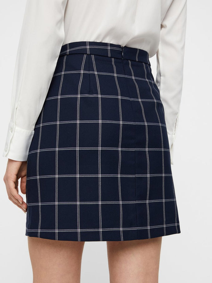 SHORT CHECKERED SKIRT NIGHT SKY