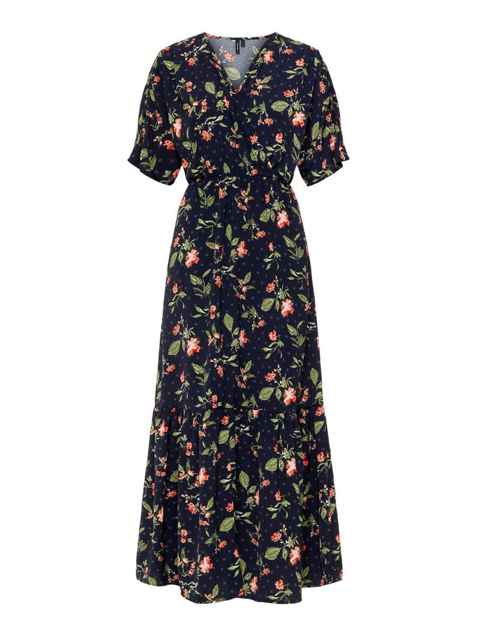 MAXI FLORAL DRESS NIGHT SKY
