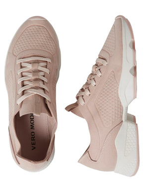 FAUX-SUEDE BLUSH SNEAKERS