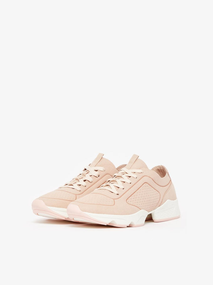 FAUX-SUEDE BLUSH SNEAKERS ROSE SMOKE