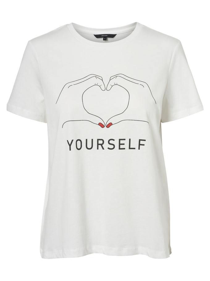T-SHIRT À IMPRIMÉ LOVE YOURSELF BLANCHE NEIGE