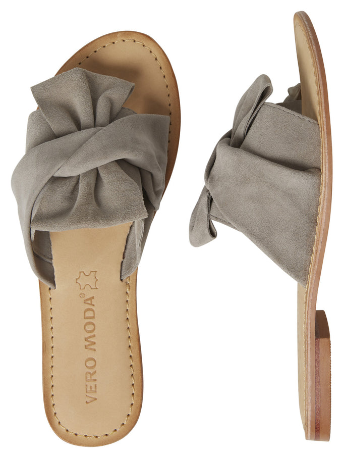 GENUINE SUEDE SANDALS HIGH-RISE