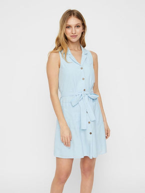 SLEEVELESS DRESS-SHIRT