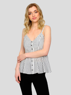 FINAL SALE – STRIPED PEPLUM CAMI