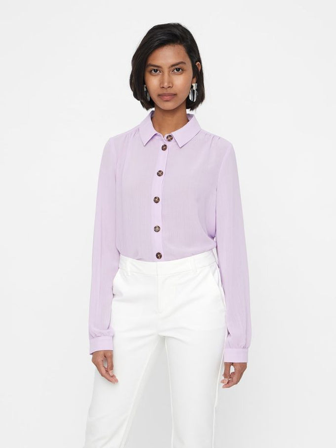 SHIRT WITH CUTE BUTTONS LAVENDULA