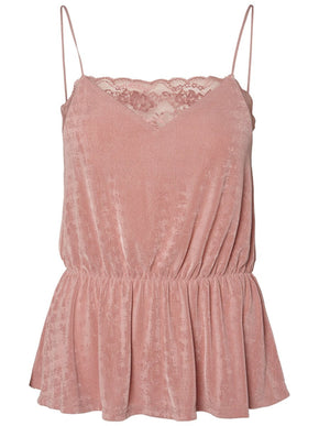 SILKY CAMI WITH LACE DETAIL