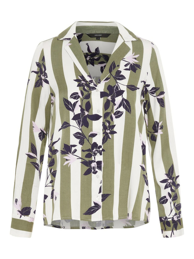 PRINTED PYJAMA-STYLE SHIRT LAUREL WREATH