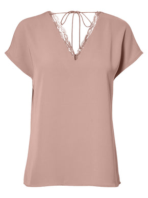 V-NECK BLOUSE WITH LACE