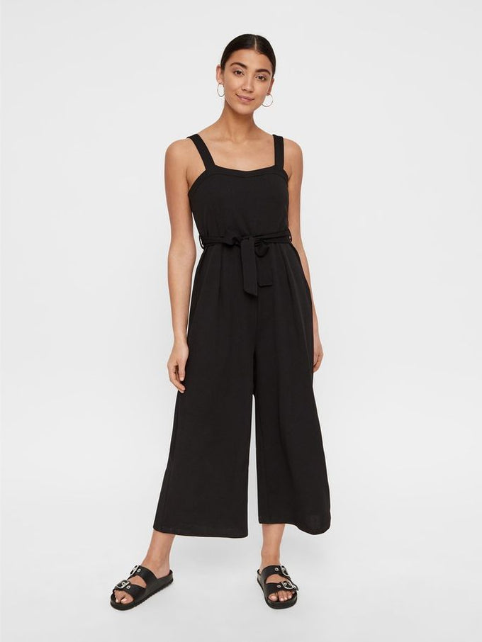 CHIC WIDE LEG JUMPSUIT BLACK