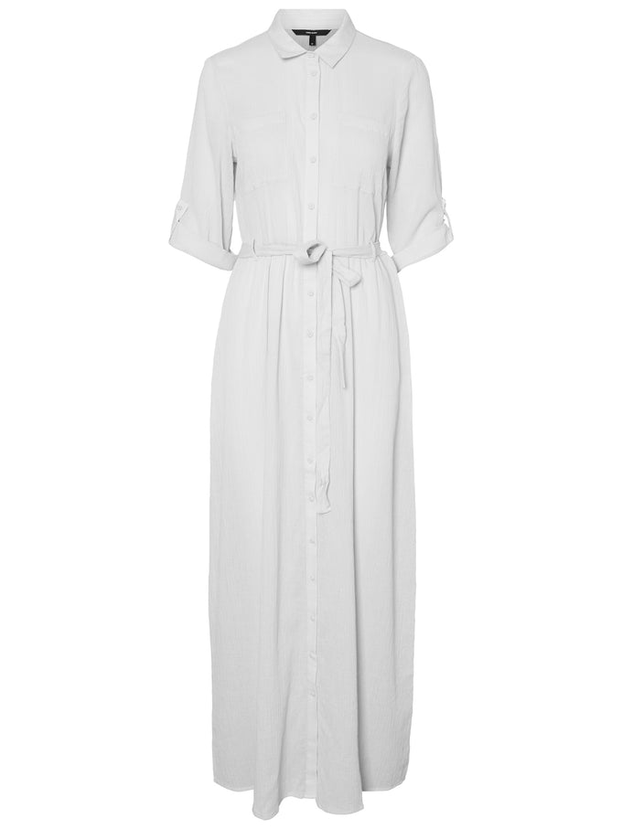 ROBE-CHEMISE MAXI BLANCHE NEIGE