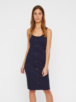 ORGANIC-COTTON RIBBED DRESS