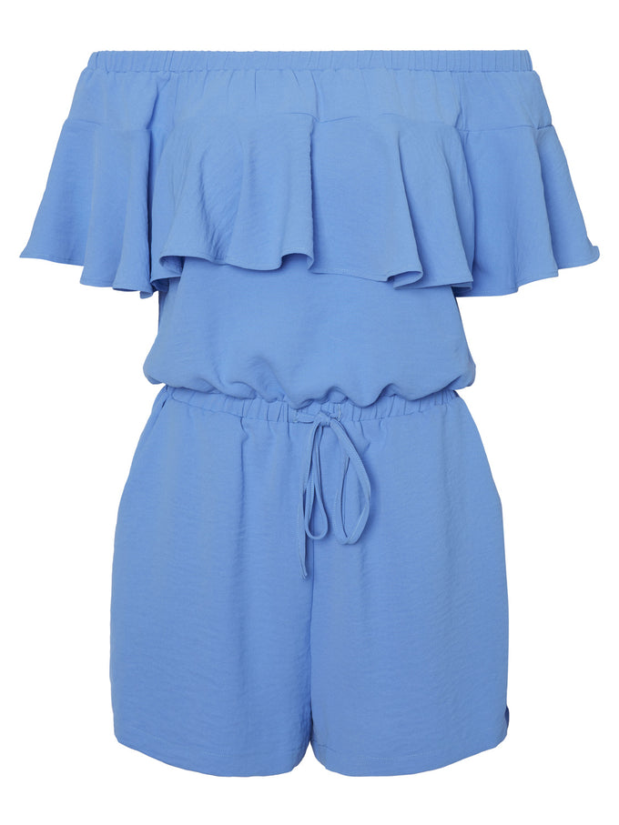 OFF-THE-SHOULDER ROMPER GRANADA SKY