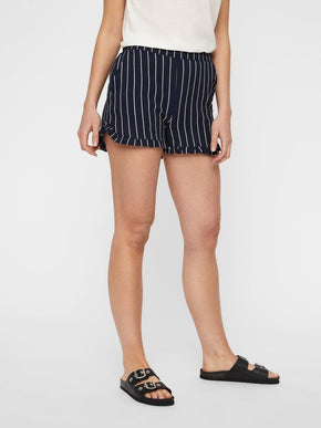 RECYCLED-POLYESTER STRIPED SHORTS