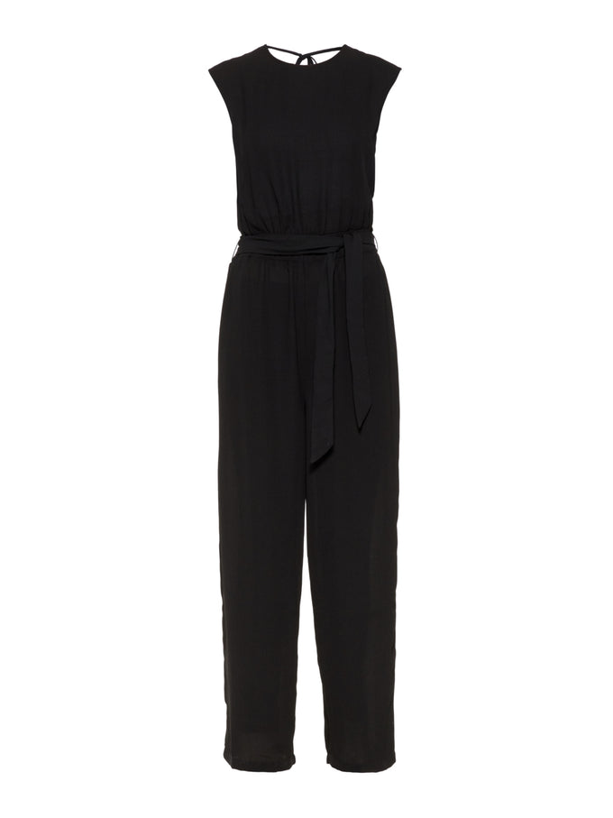 JUMPSUIT WITH AN OPEN BACK BLACK