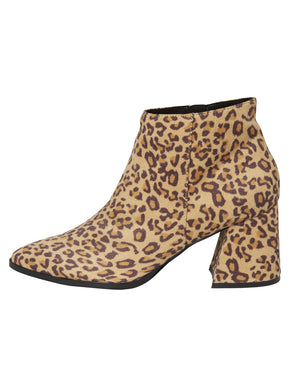 FAUX-SUEDE LEOPARD LIVA BOOTS