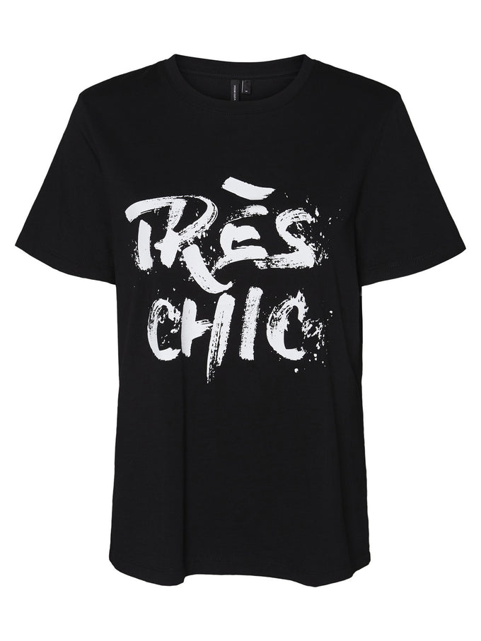 TRÈS CHIC PRINT T-SHIRT BLACK