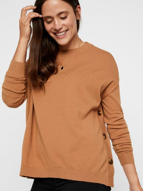 Sweater With Side Buttons
