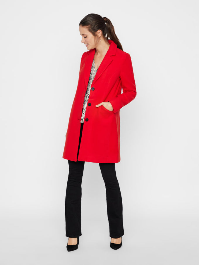 Cala Dress Coat CHINESE RED