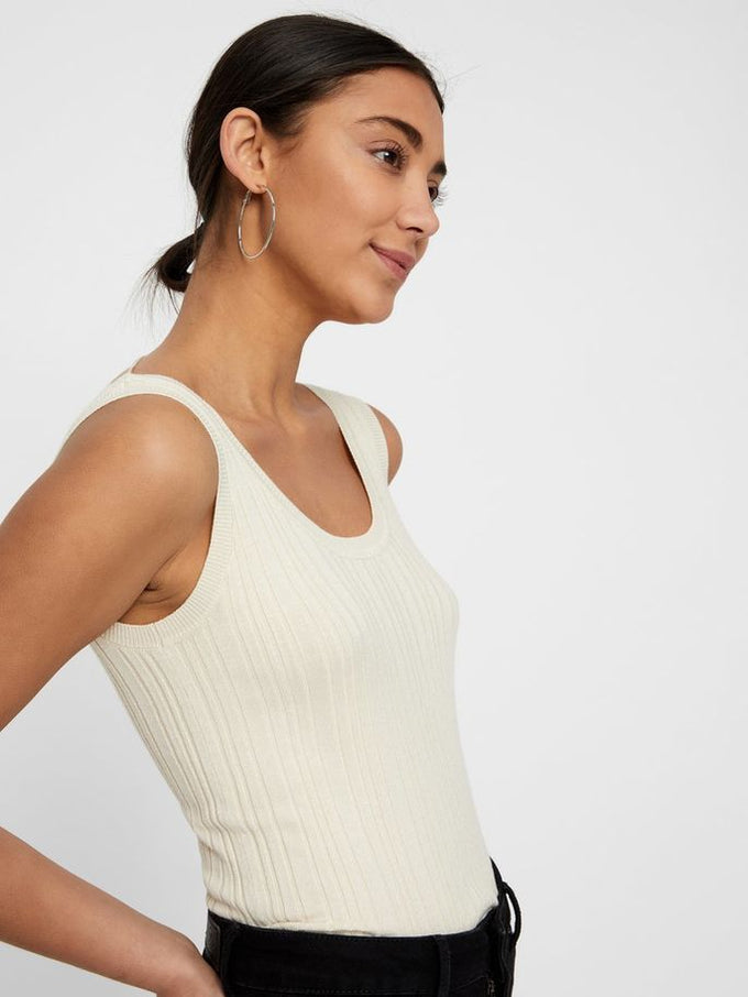REGULAR FIT RIBBED CAMI BIRCH