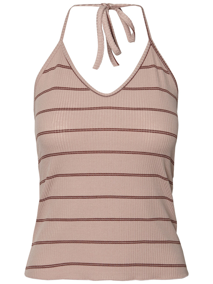 CROPPED CAMI WITH STRIPES MISTY ROSE