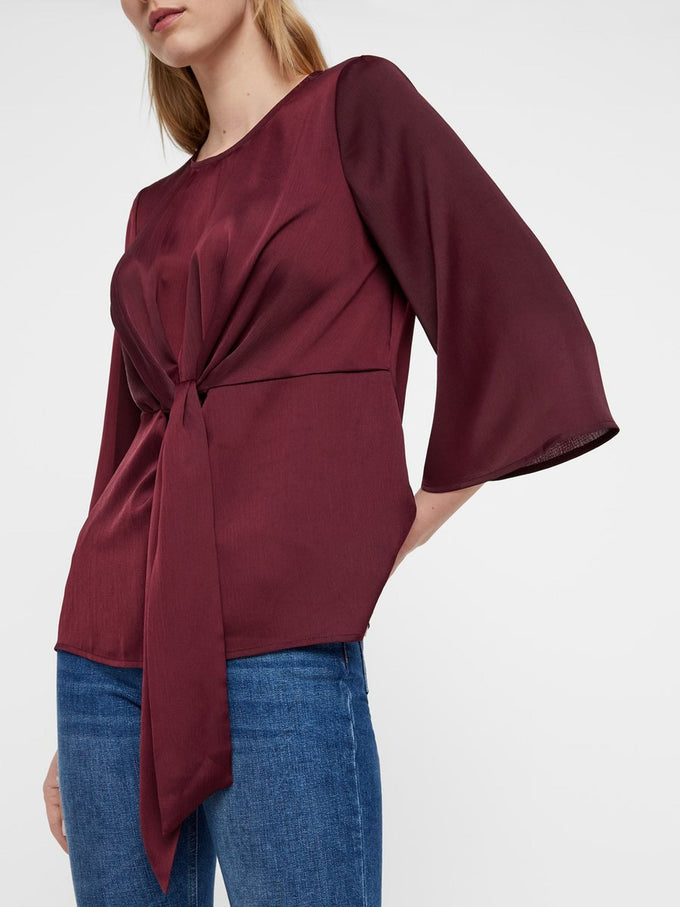 MODERN SATIN BLOUSE WINETASTING