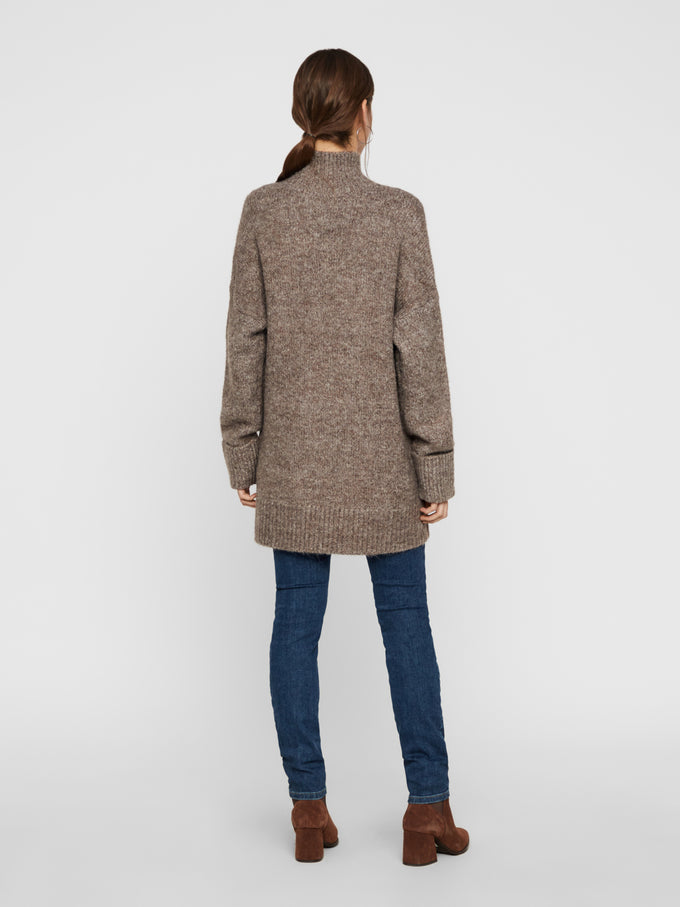High Neck Long Sweater SHOPPING BAG