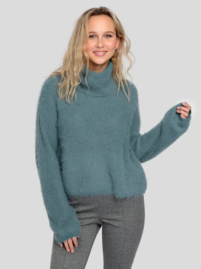 POILU LONG SLEEVE TURTLE NECK SWEATER NORTH ATLANTIC