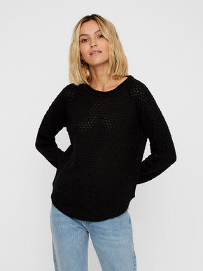 Sweater With Curved Hem
