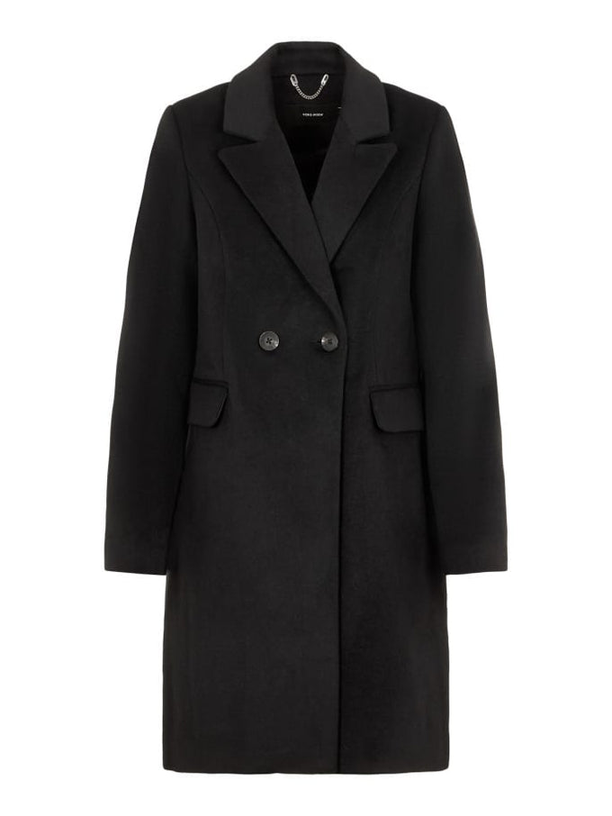 Double Breasted Wool Coat BLACK