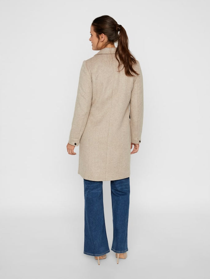 Double Breasted Wool Coat SILVER MINK