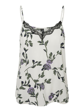 FLORAL CAMI WITH LACE