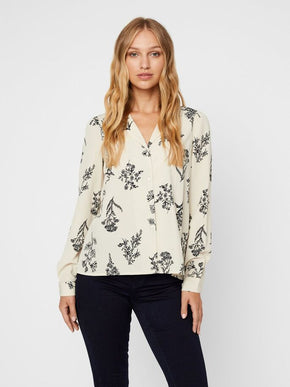 Aware Floral Button Down Blouse