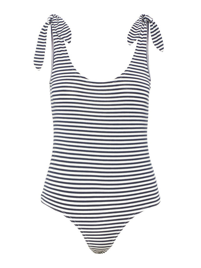STRIPED JERSEY BODYSUIT NIGHT SKY