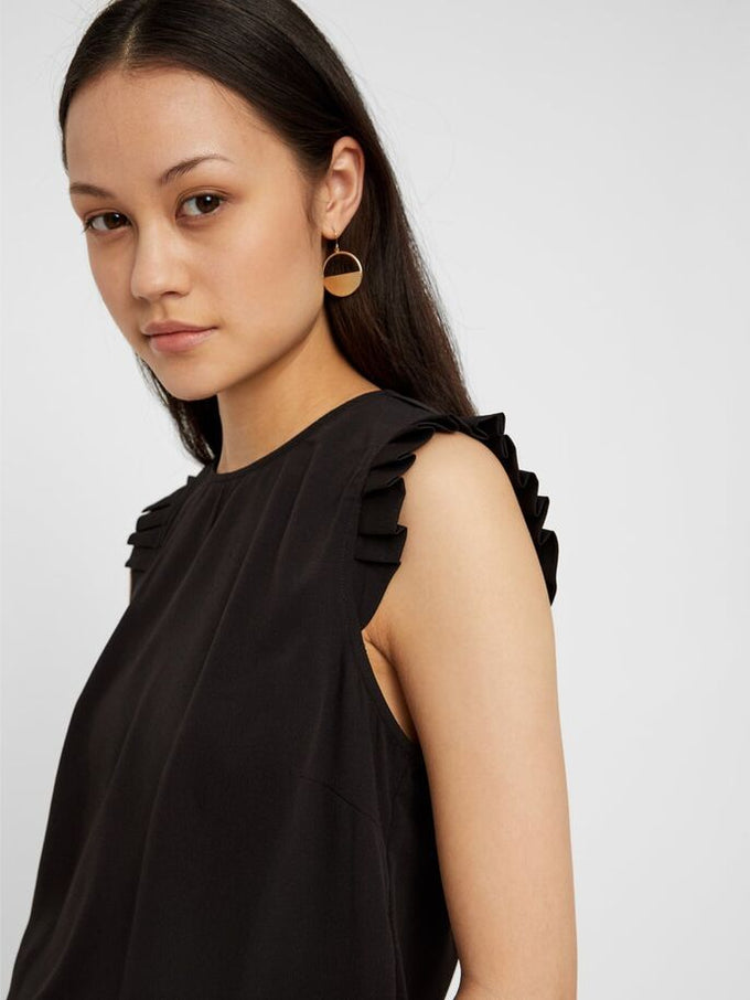 Blouse With Frills BLACK