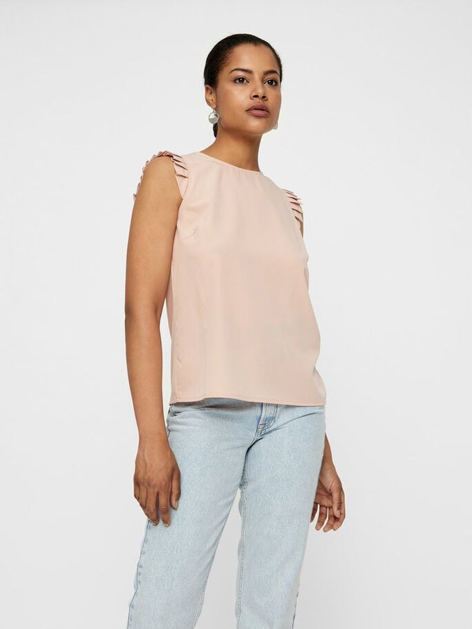 Blouse With Frills MISTY ROSE