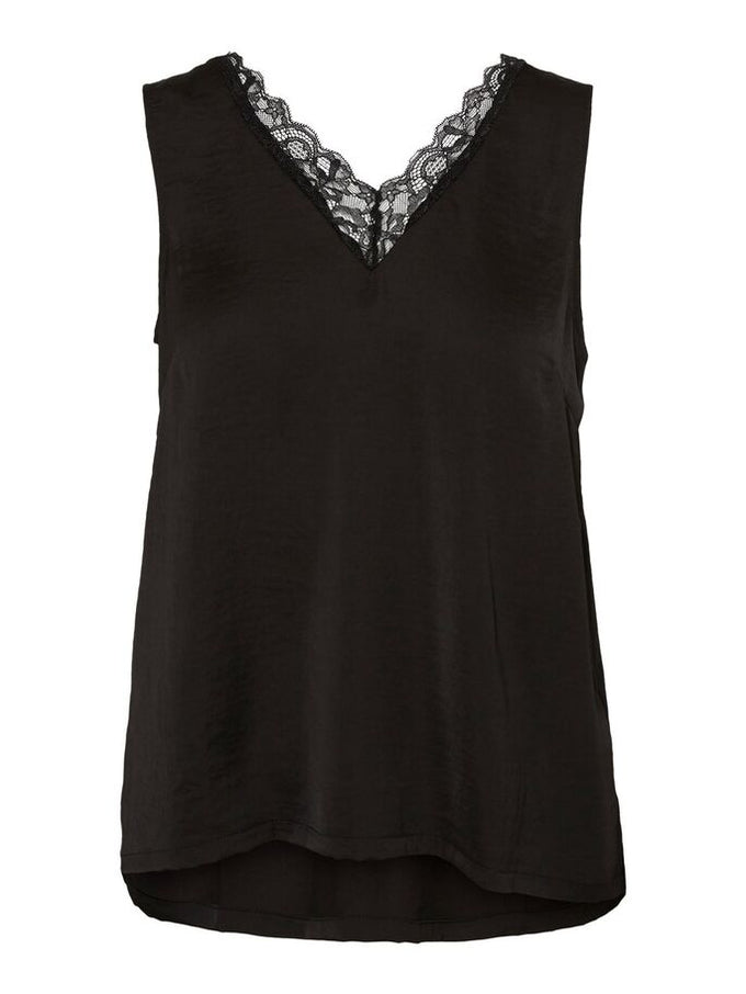 SANDRA LACE TOP BLACK