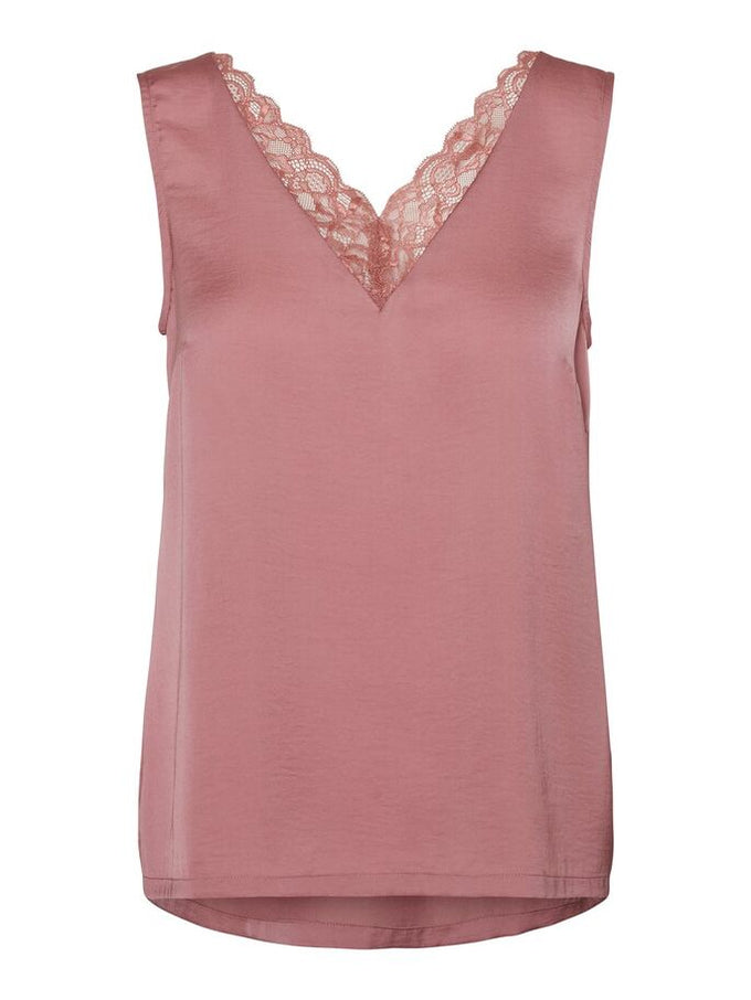 SANDRA LACE TOP MESA ROSE