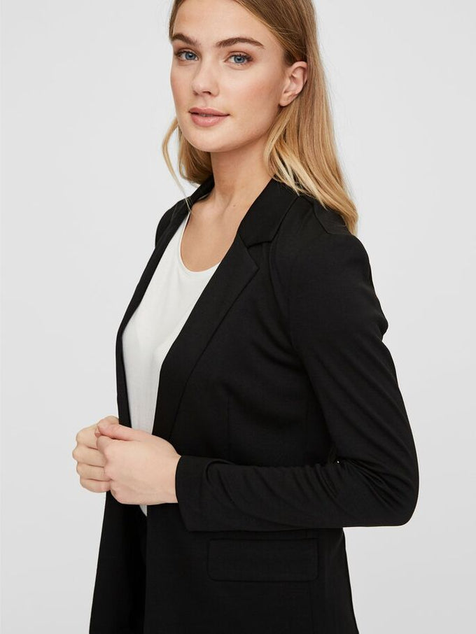 OPEN BLAZER BLACK