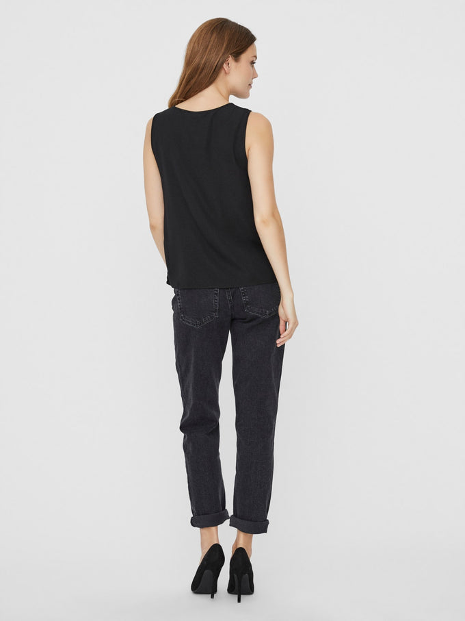 SINE SLEEVELESS TOP BLACK