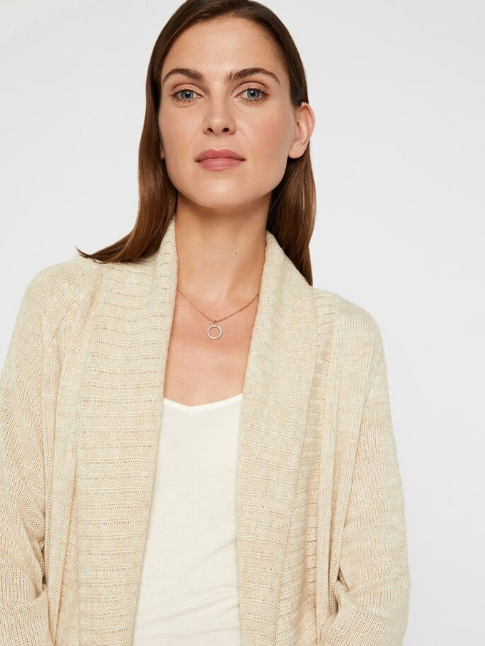 SUNDAY LONG KNIT CARDIGAN BIRCH