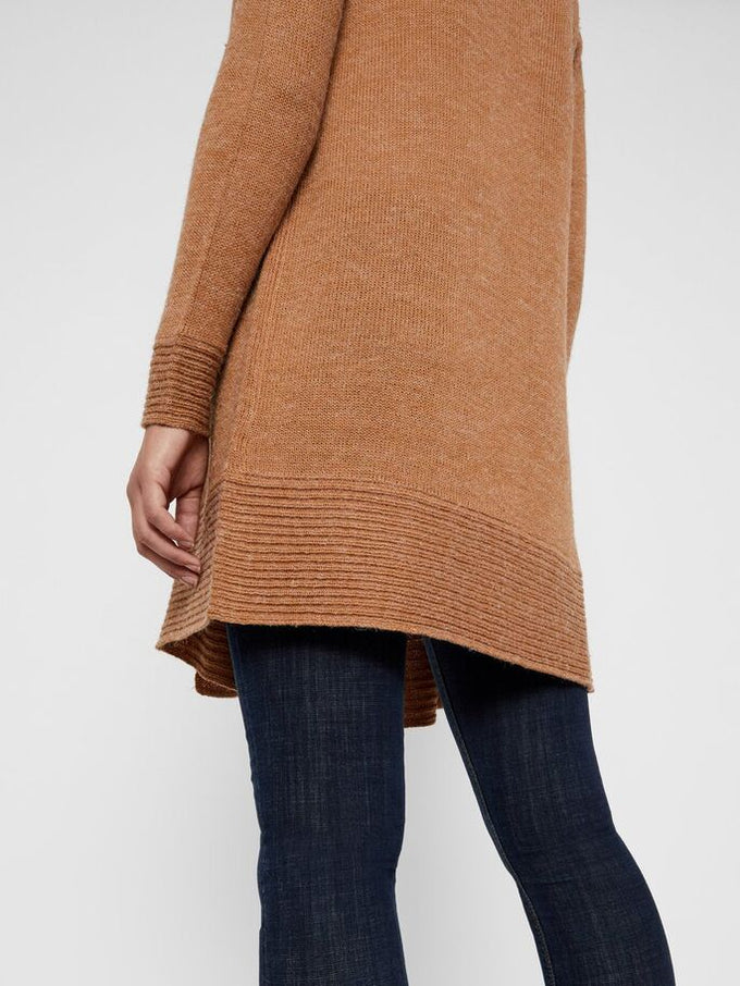 SUNDAY LONG KNIT CARDIGAN TOBACCO BROWN