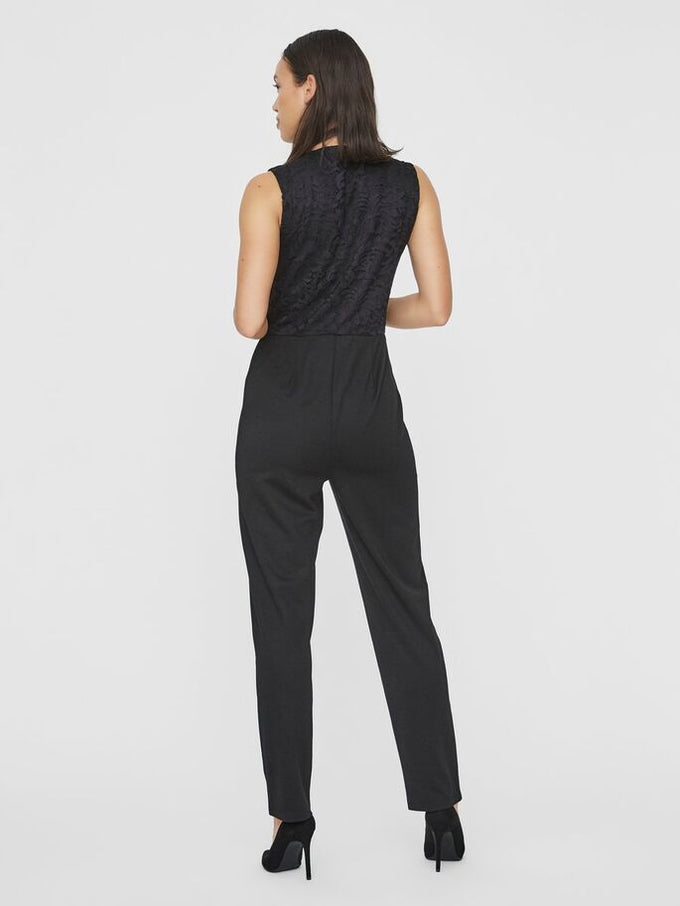 DORA SLEEVELESS JUMPSUIT BLACK