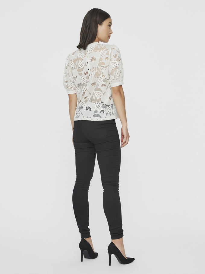ELITA BALLOON SLEEVE TOP BIRCH