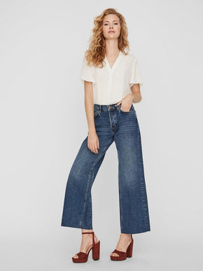 JEANS ALEXA COUPE JAMBE AMPLE À TAILLE MI-HAUTE
