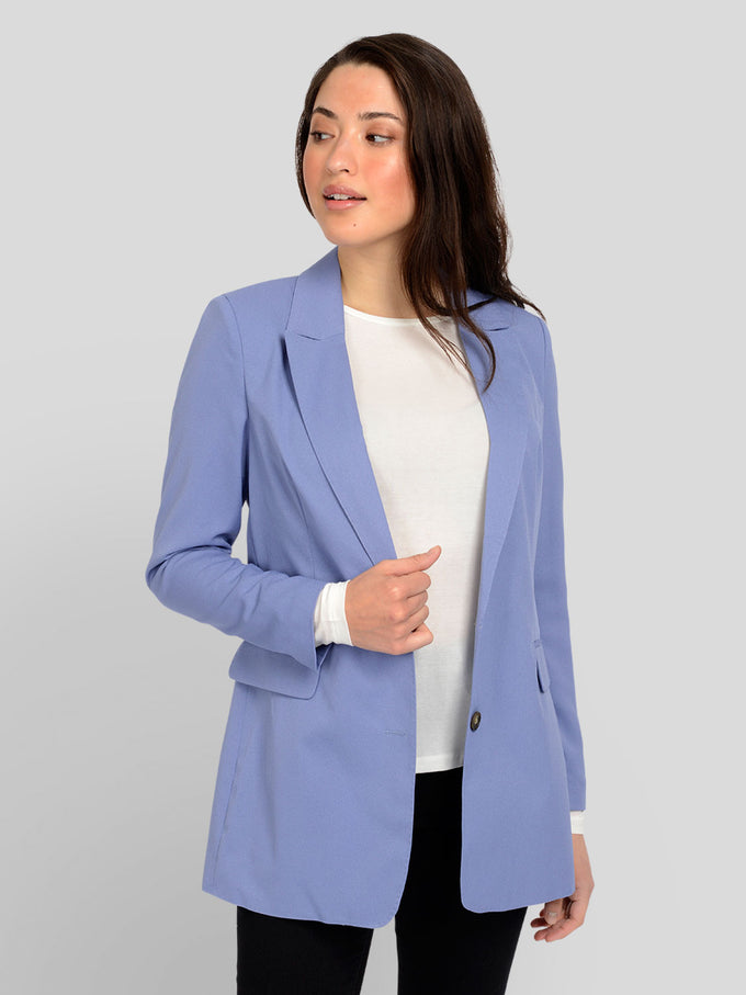 VESTON LONG GUDRUN BLEU GLACÉ