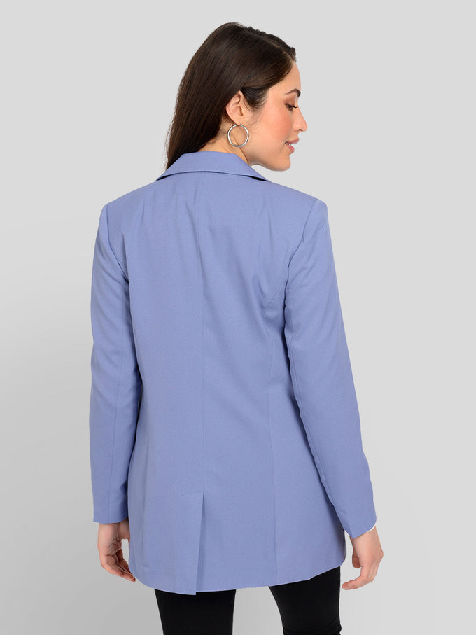 LONG GUDRUN BLAZER BLUE ICE