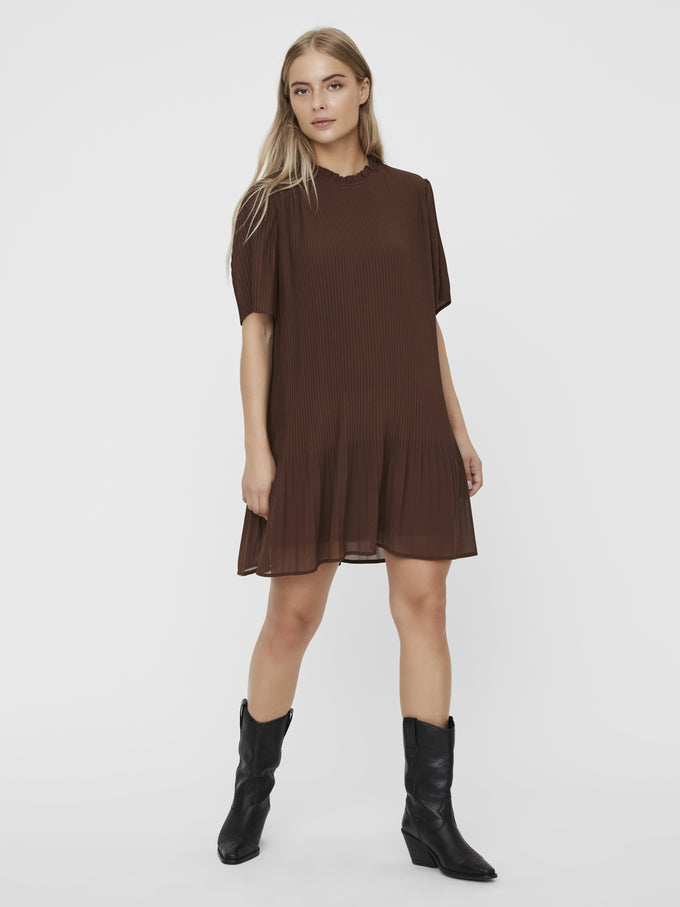 CICELY PLEATED DRESS ROCKY ROAD