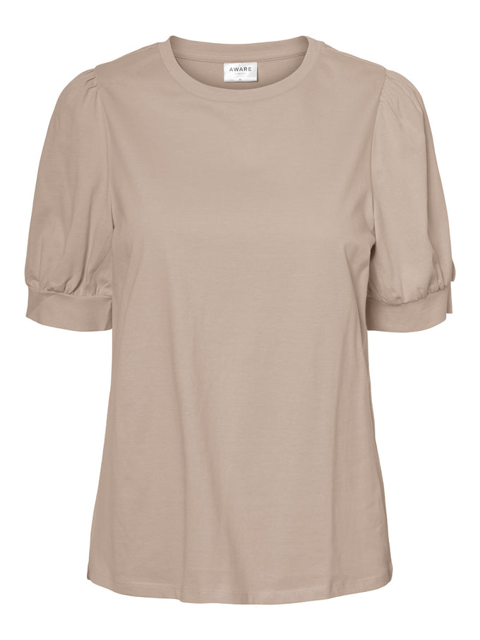 AWARE KERRY PUFF SLEEVES TOP ROSE DUST
